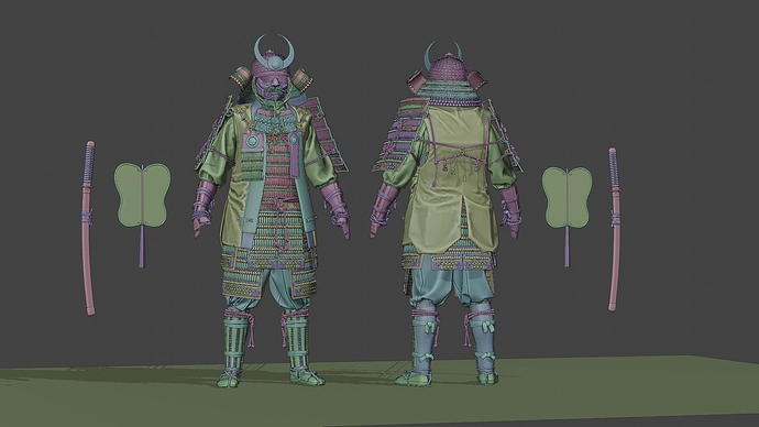 Medieval_Japanese_Samurai_B_CLAY_0001