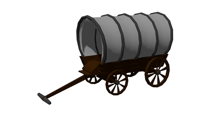 wild west wagon render