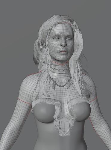 Orc woman edit mode