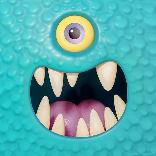 metin-seven_3d-print-modeler-toy-character-designer_cartoony-monster-face