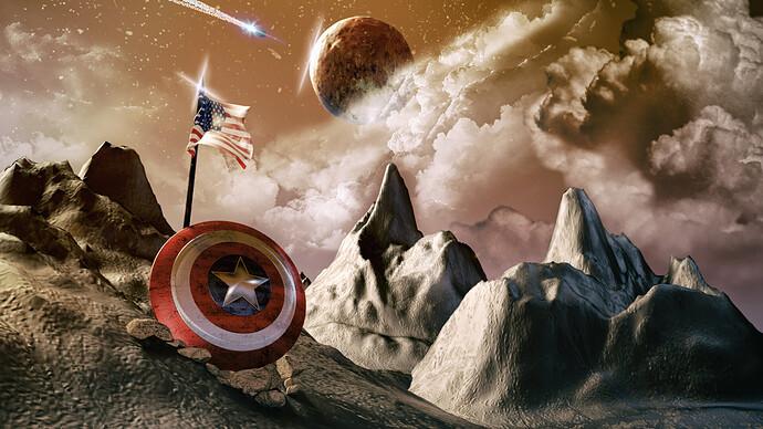 Capitan America Flag