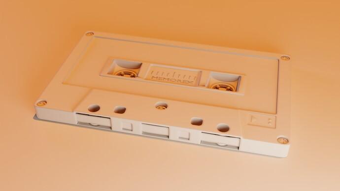 Cassette Tape lens 2 clay