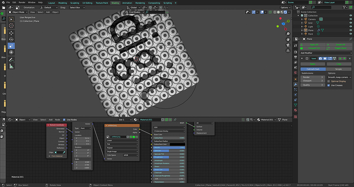 texture on mesh