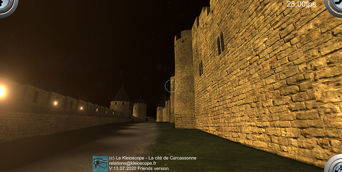 carcassonne 3D at night
