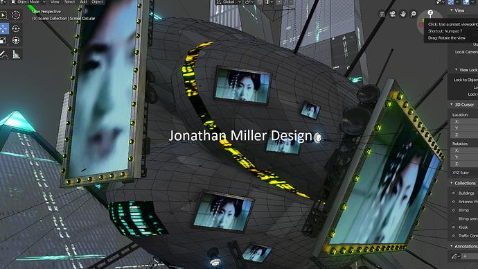 JMD Blade Runner Tribute Screen Capture Blimp