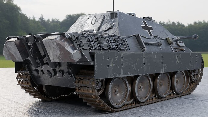 2_Weathered Jagdpanther (right rear)