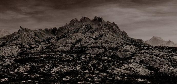Sepia Crags