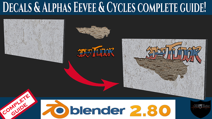 Youtube Blender 2.8 Decals & Alphas   Eevee & Cycles Complete Guide