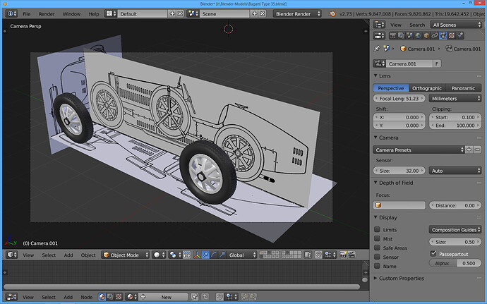 Bugatti Blender Screen