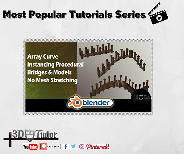 Blender 2.82 Array Curve Instancing Procedural Bridges & Models No Mesh Stretching