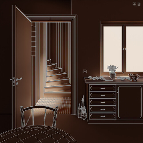 DramaticApartment_ClayRender1_ClayWire