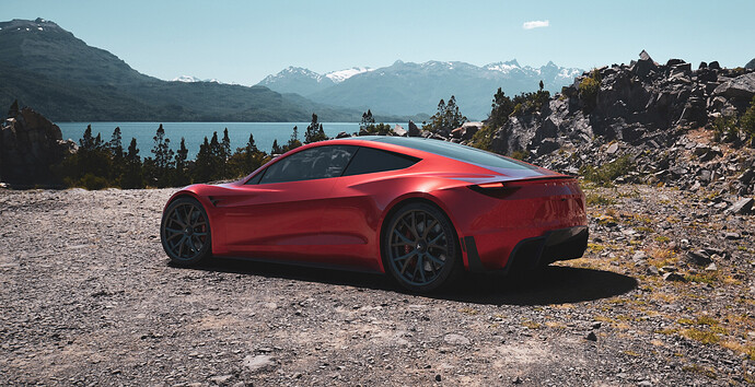 Tesla roadster - Luxcore - PDRA-9