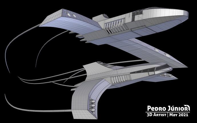 Spaceships Wirefame