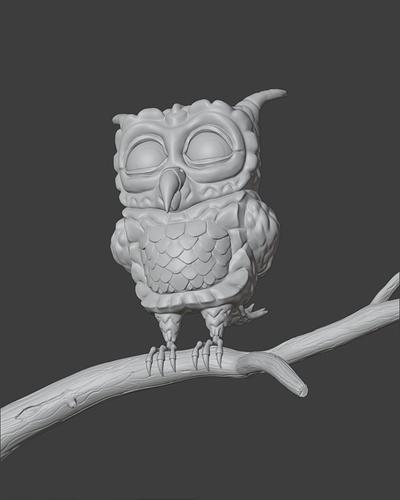 Stylized Owl_Viewport
