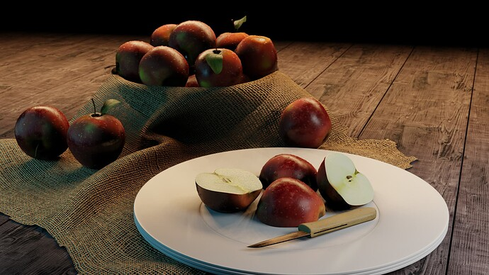 apples render 2