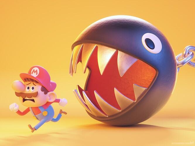 metin-seven_stylized-3d-illustrator-cartoon-character-designer_cute-mario-game-chain-chomp