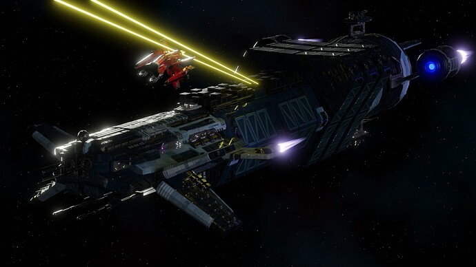 Big Ship Builder - Freighter vs Wing-X