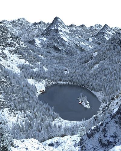 Snowy mountain raw