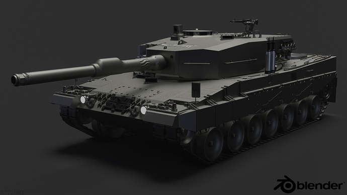 Leopard2A4-frontvw