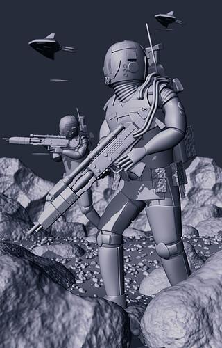Advance Through Battle (Matcap)