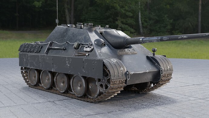 2_Weathered Jagdpanther (Right Front)