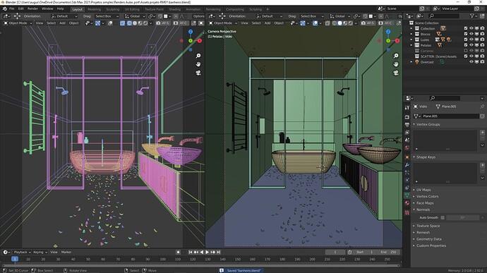 ScreenShot - cena banheiro - Blender
