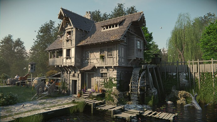 Watermill midday
