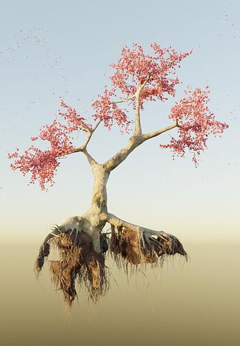 Floating Sakura Tree 1500x2160