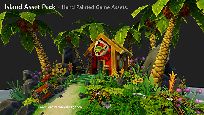 JMD Game Assets Hand Painted Diarama Main View