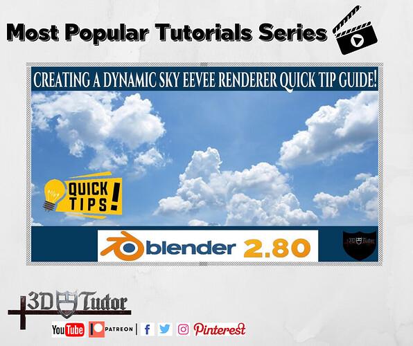 Blender 2.8 New Quick Tip Creating a Dynamic Sky Eevee Render