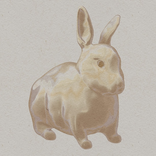 watercolor bunny 1
