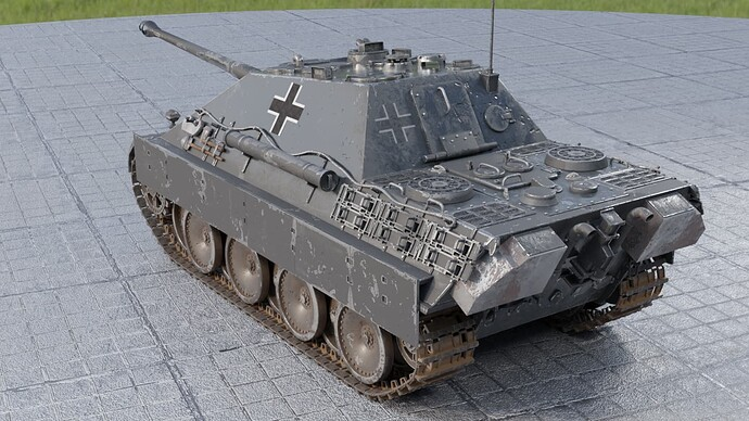 2_Weathered Jagdpanther (Left Rear)