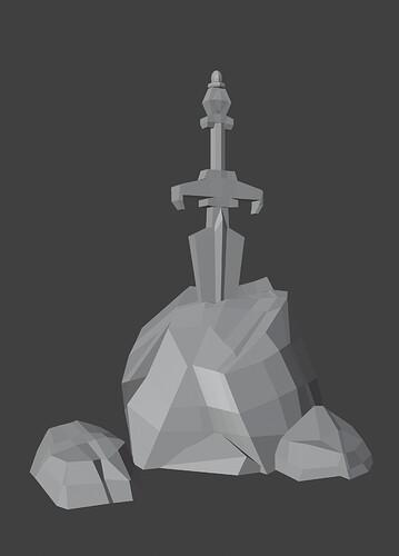 21.04.10 Sword in the Stone (Model)