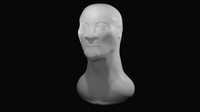 3rd Sculpt Human Head
