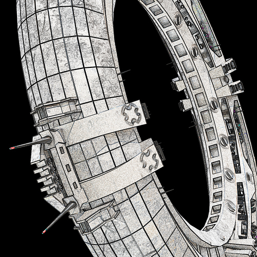 Ring ship Sketch view