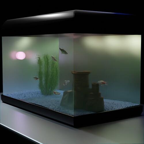underglass the fish