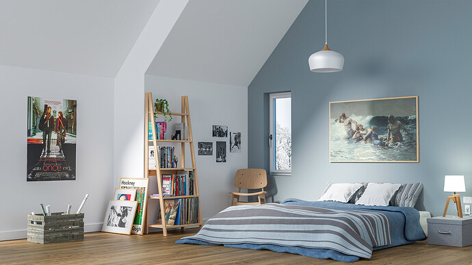 scandinavian bedroom 01 - optimisee