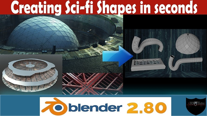 Creating Scifi Shapes In Seconds Blender 2.8 YouTube