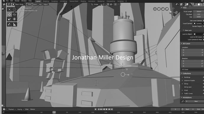 JMD Blade Runner Tribute Screen Capture Close Up