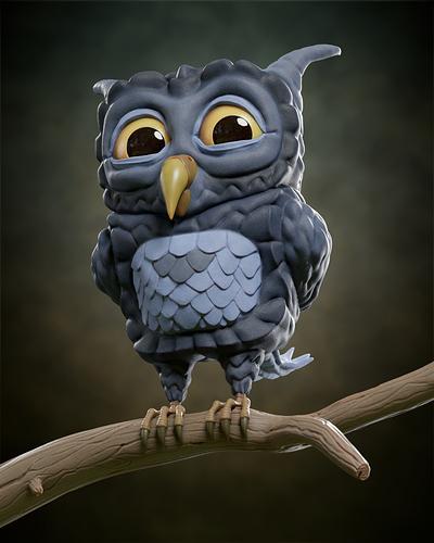 Stylized Owl_HD_Nah