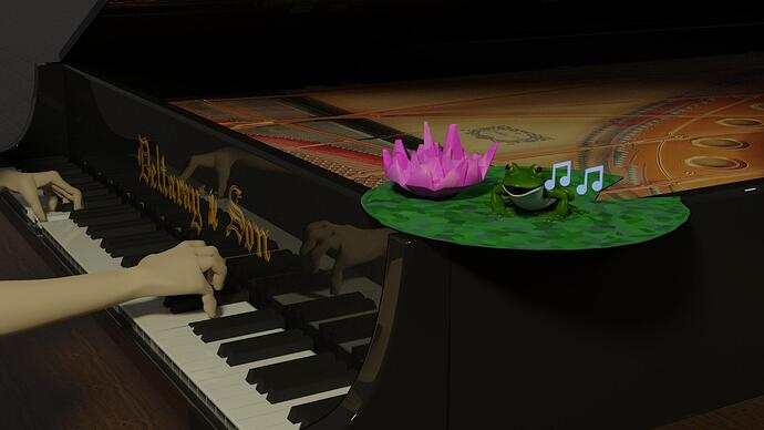 piano-and-frog