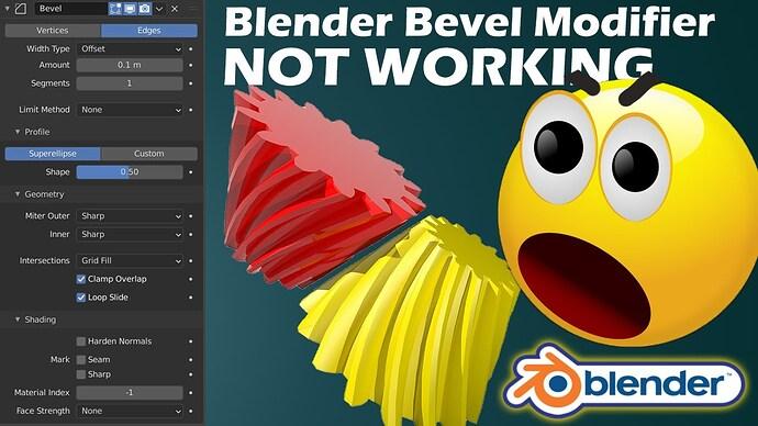 Blender Bevel Modifier Not Working Thumbnail