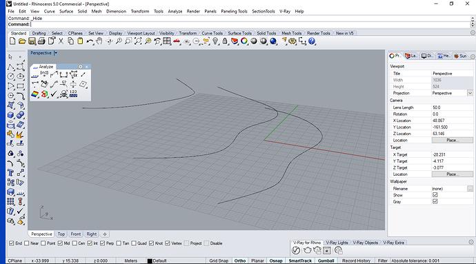 rhino elevated curves