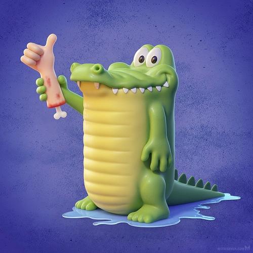 metin-seven_3d-print-modeler-toy-character-designer_cute-cartoon-alligator-crocodile