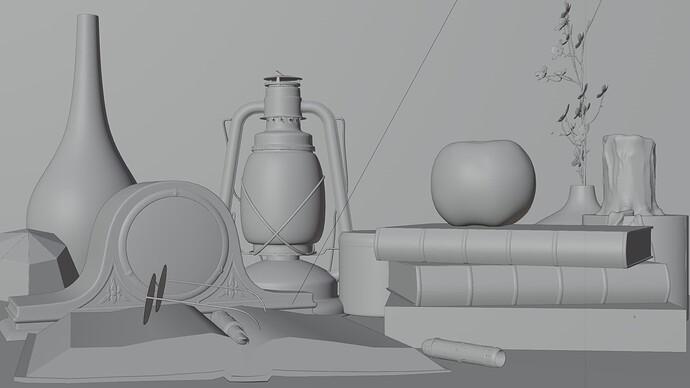 flat render