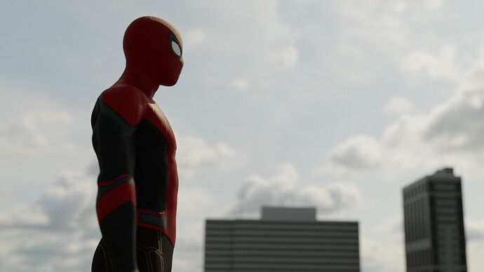 Spiderman Render HDRI Fixed by Normals