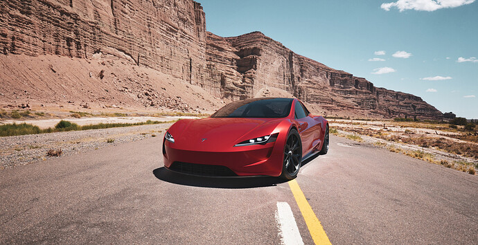 Tesla roadster - Luxcore - PDRA-2