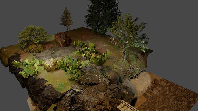 Kleiner Wald mit Wasserlauf