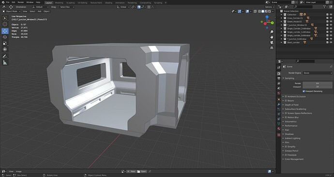 Corner Modual With 2 Windows