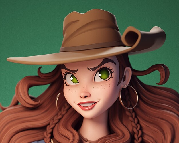closeup render
